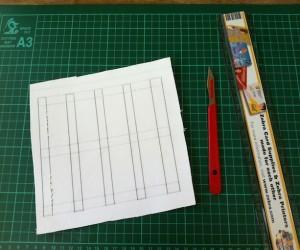 printed pattern glued onto card.
