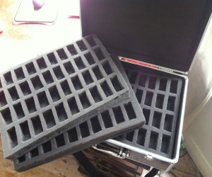 Some of my finished trays fitting inside a KR case.