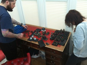 The hobby wife is called in to help with final Skaven preparations..